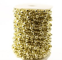 Gold Pearl Bead Garland 8mm/4mm x 20yards
