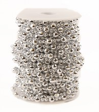 Silver Pearl Beaded Garland 8mm/4mm x 20yards