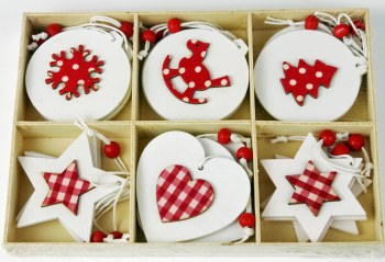 Nordic Christmas Tags x 18pcs 5.5cm