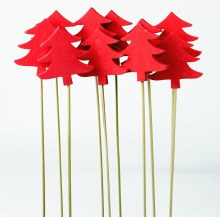 Red Christmas Florist Picks 30cm x 10pcs