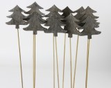 Wooden Christmas Tree Picks 30cm x 10pcs