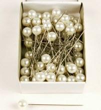 Pearl Florist Pins 10mm x 60mm Ivory