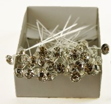 Diamante Wedding Pins 8.5cm x 50pcs