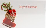 Merry Christmas Cards  Stocking Florist Small x 50pcs