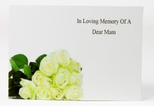 Florist Cards Large In Loving Memory Of A Dear Mam x 9pcs