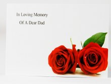 Florist Cards Large In Loving Memory Of A Dear Dad x 9pcs