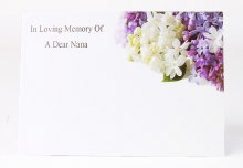 Florist Cards Large In Loving Memory Of A Dear Nana x 9pcs