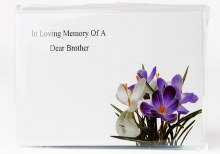 In Loving Memory Of A Dear Brother Florist Large Cards x 9pcs