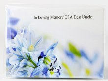 Florist Cards Large In Loving Memory Of A Dear Uncle x 9Pcs