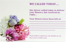 Florist Care Cards We Called Today