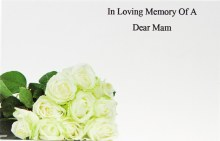 Florist Cards In Loving Memory Of A Dear Mam Small x 50pcs
