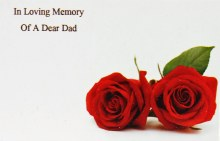 Florist Cards Small In Loving Memory Of A Dear Dad x 50pcs