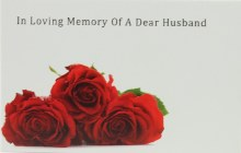 Florist Cards Small In Loving Memory Of A Dear Husband x 50