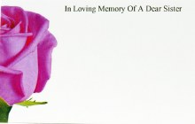 Florist Cards Small In Loving Memory Of A Dear Sister x 50pcs