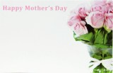 Florist Gift Cards Small Happy Mother's Day x 50pcs