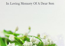 Florist Cards In Loving Memory Of A Dear Son x 9pcs