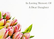 Florist Cards Large ILM of A Dear Daughter x 9pcs