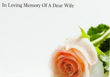 Florist Cards Large In Loving Memory of A Dear Wife x 9pcs