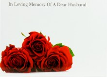 Florist Cards Large In Loving Memory Of A Dear Husband x 9pcs