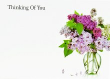Florist Cards Large Thinking Of You x 9pcs