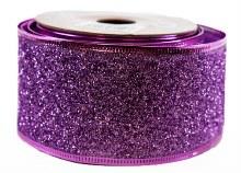 Glitter Ribbon Lilac 5cm x 10Y