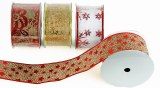 Christmas Ribbon 6.3cm x 10yds x 1