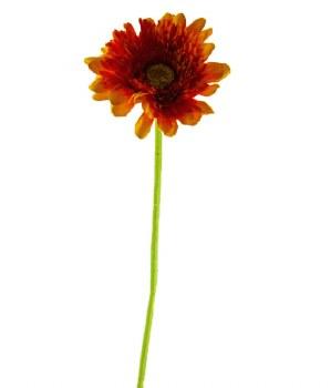 Artificial Gerbera Single Stem Orange