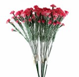Artificial Spray Carnations Fuchsia x 10 Stems