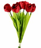 Artificial Tulip Bunch x 6 Red