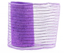 Decor Mesh Fabric Royal Lilac Metallic Thread 15cm x 10Yds