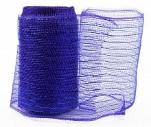Decor Mesh Fabric Royal Blue Metallic Thread 15cm x 10Yds