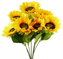 Artificial Sunflower Bunch x 7