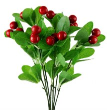Artificial Red Berry Bunch 36cm