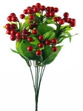 Artificial Red Berry Bunch
