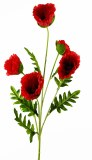 Artificial Poppy Stem Red 110cm