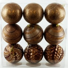 Christmas Buables Mixed Copper x 9