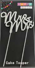 Diamante Mr & Mrs Cake Topper