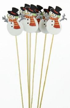 Christmas Florist Bouquet Picks x 6 Snowman