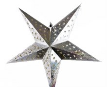 Paper Christmas Star Silver 60cm