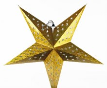 Paper Christmas Star Gold 60cm
