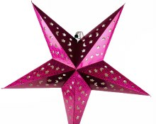 Paper Christmas Star Pink 60cm