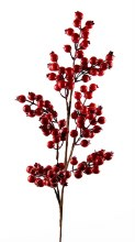 Artificial Red Berry Stem 80cm