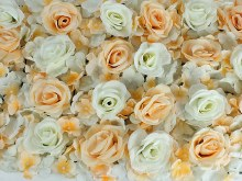 Flower Wall Panel Rose & Hydrangea Blush Peach/Cream 40cm x 60cm