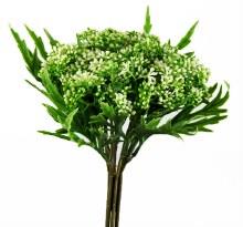 Artificial Blossom Bunch White 29cm