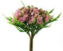 Artificial Blossom Flower Bunch Pink 29cm