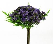 Artificial Blossom Flower Bunch Purple 29cm