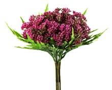 Artificial Blossom Flower Bunch Dark Pink 29cm