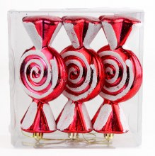 Christmas Baubles Candy Sweets x3