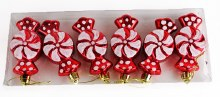 Christmas Baubles Candy Sweets x 6