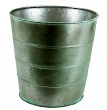 Metal Plant Pot Antique Green 20cm